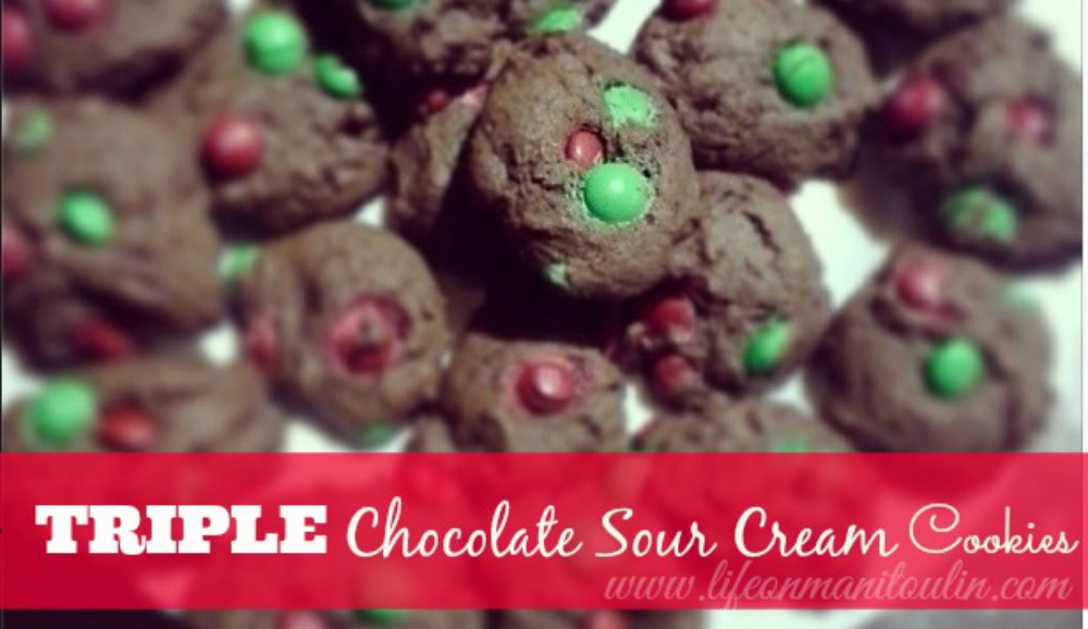 triple chocolate cookies cover