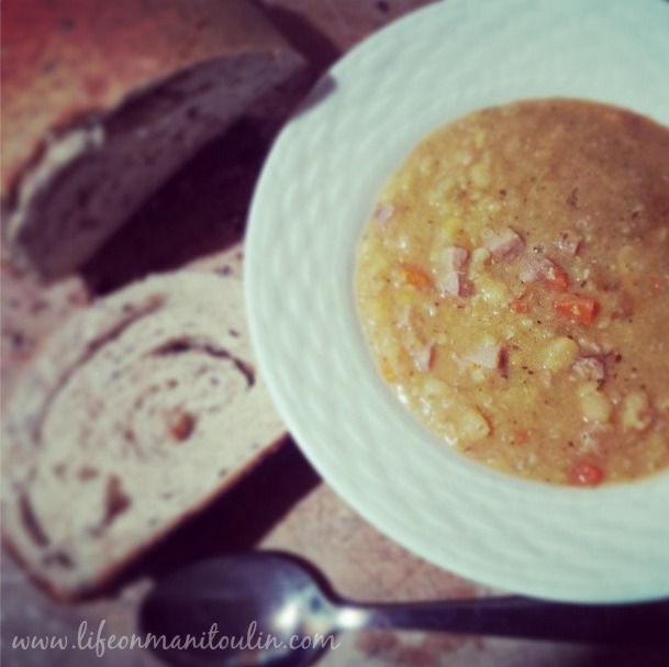 Slow Cooker Split Pea Soup - Life on Manitoulin