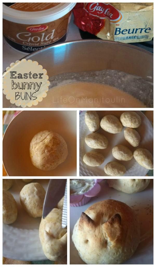 Easter Bunny Buns DIY