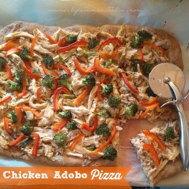 chicken adobo pizza
