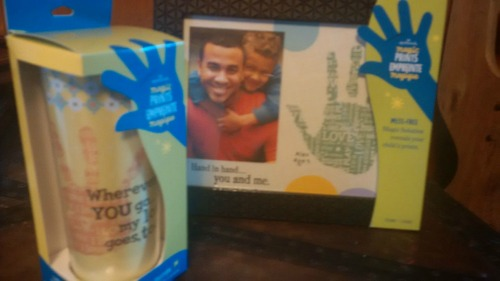 WIN this adorable Handprint Frame (frame only - tumbler not included in the prize). Makes a great keepsake!