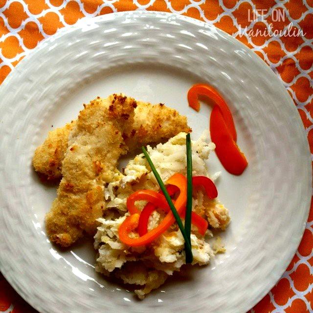 patio dining crispy panko chicken