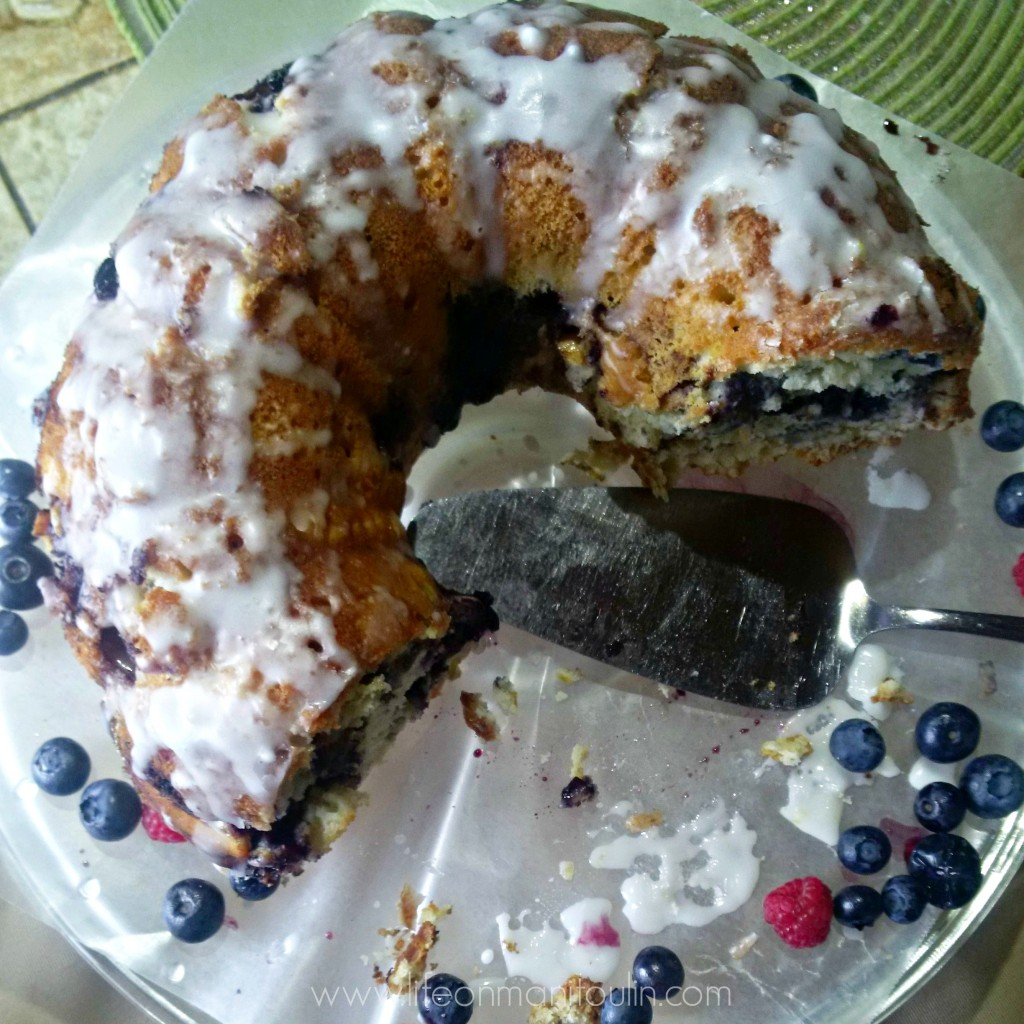 Blueberry Lemon Sour Cream Cake 1