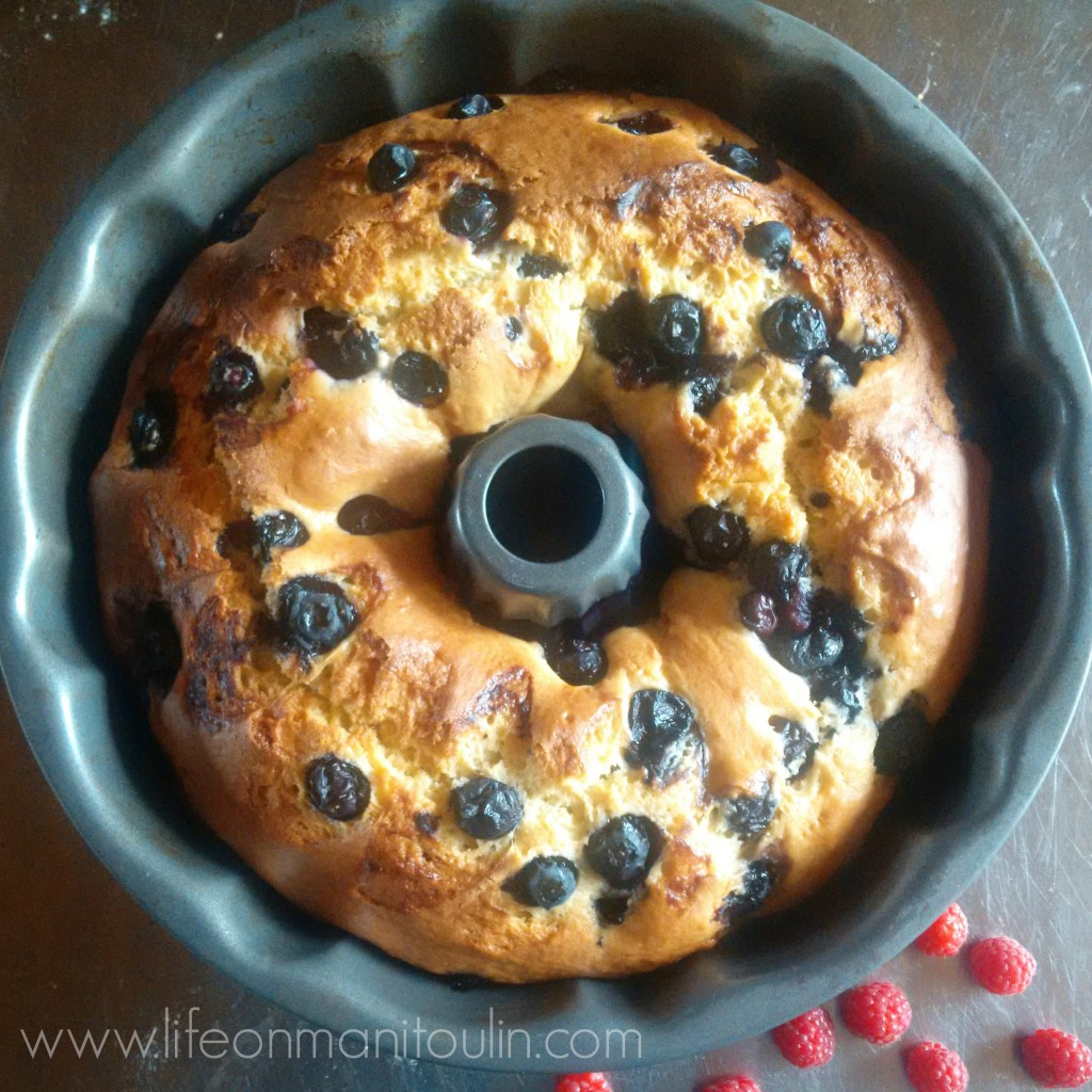Blueberry Lemon Sour Cream Cake 4