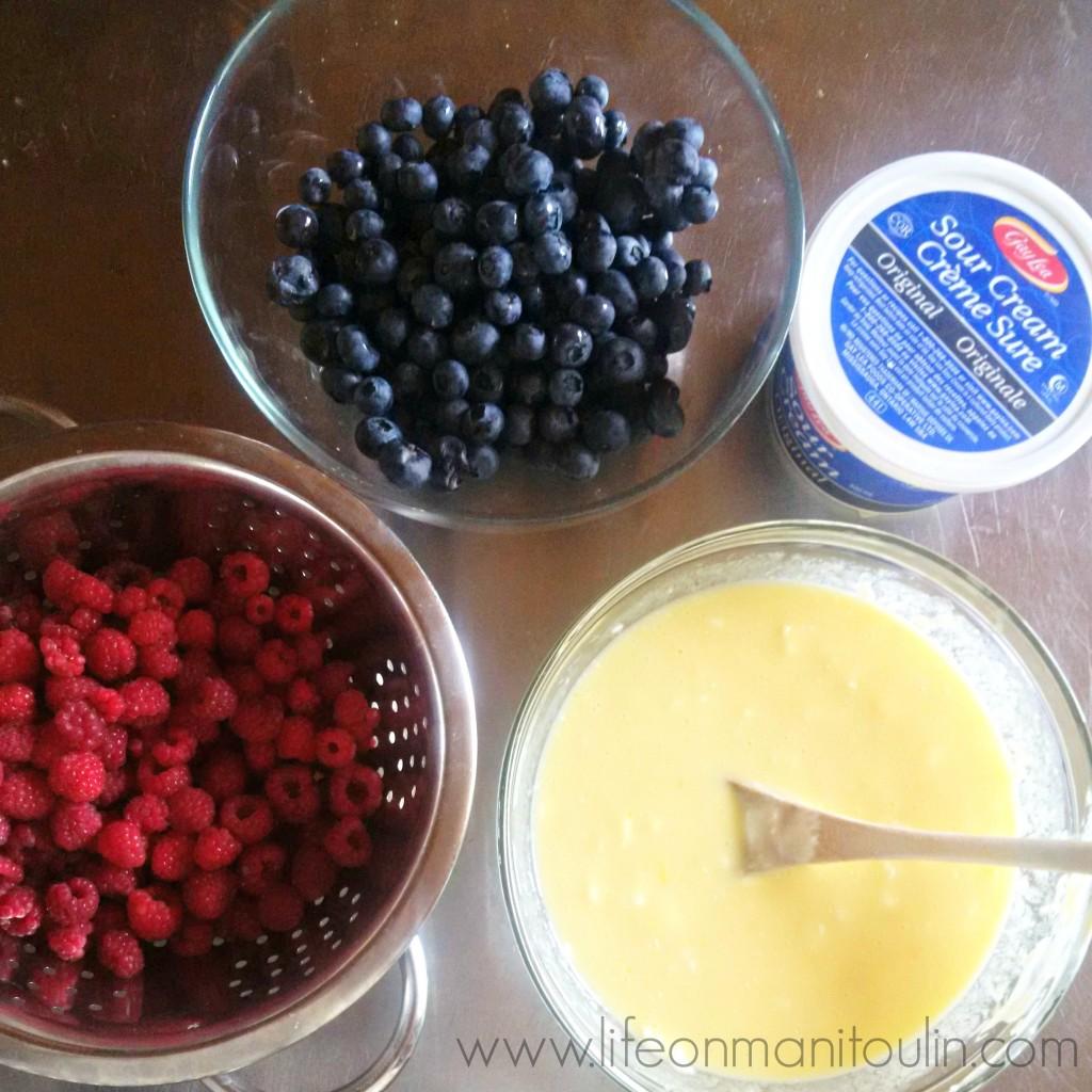 Blueberry Lemon Sour Cream Cake 5