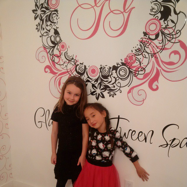 Little One and her BFF say a BIG Thank You to Glama Gal Tween Spa in Sudbury!  They had an incredible time!