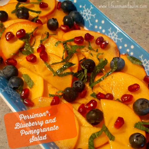 persimon blueberry pomegranate salad