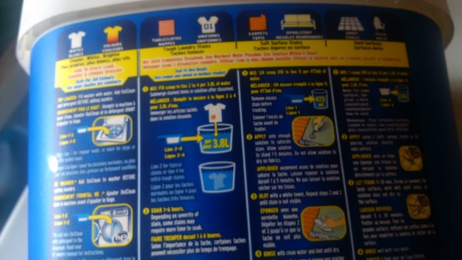 OxiClean Instructions