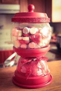 valentines candy jar