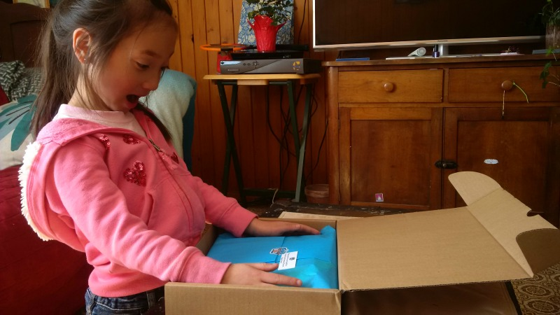 The unboxing is always fun! I love seeing Little One's reaction! She's such a ham!