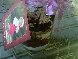 brownies in a mason jar