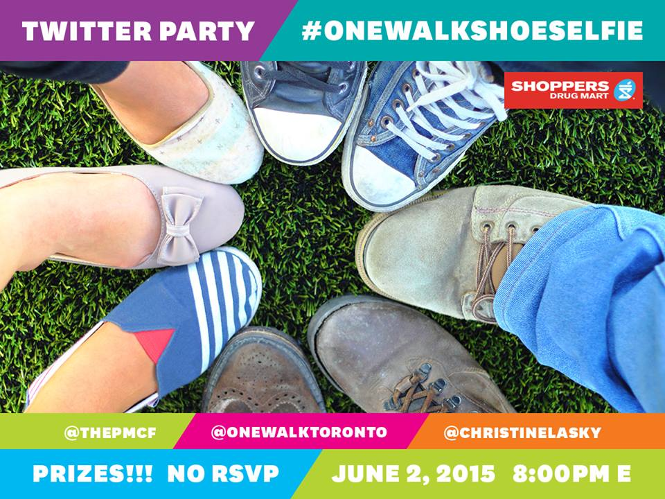 onewalkshoeselfie Twitter Party