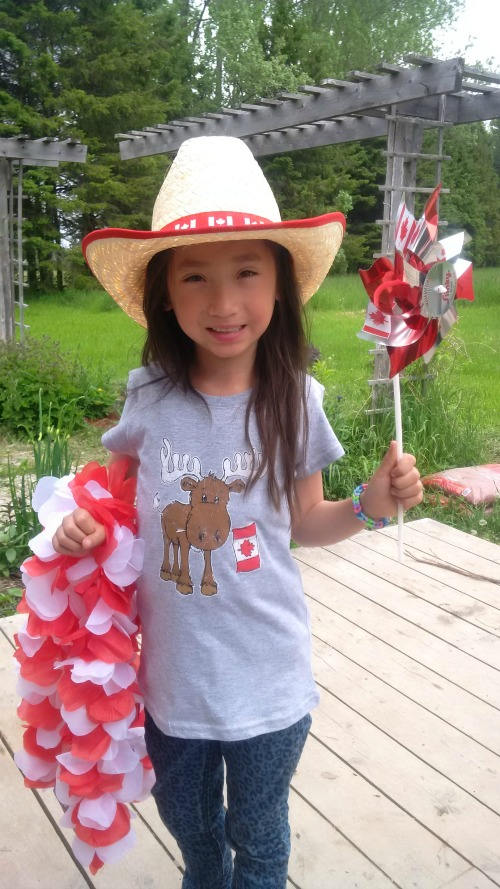 Giant Tiger's got Canada Day-themed apparel for everyone in the family!  Our pint-sized farm kid is excited about these  Mystery Box Challenge items!