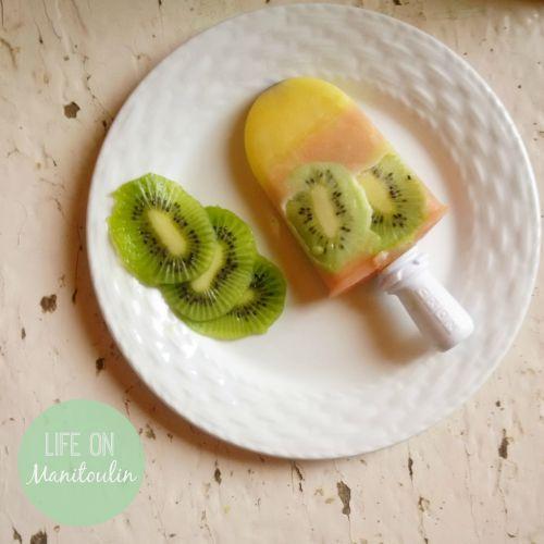Kiwi Peach Orange Ice Pops