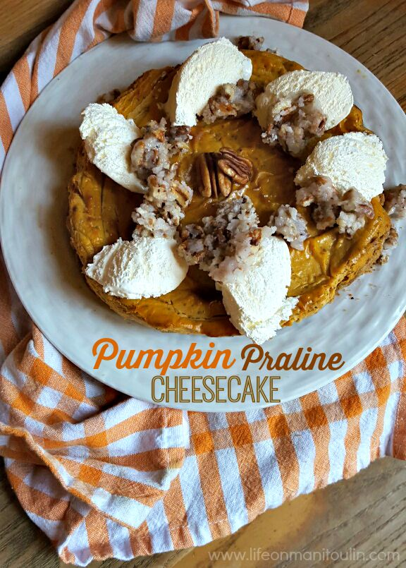 pumpkin praline cheesecake