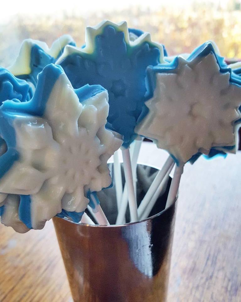 frozen chocolate pops