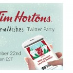 #WarmWishes Twitter Party with Tim Hortons