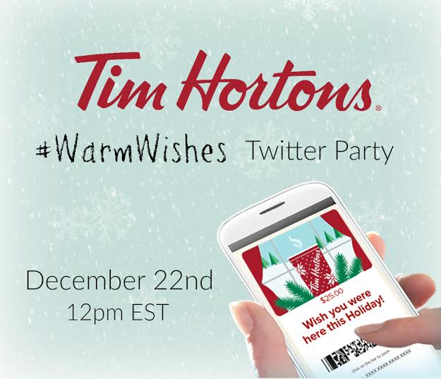 warmwishes tim hortons party