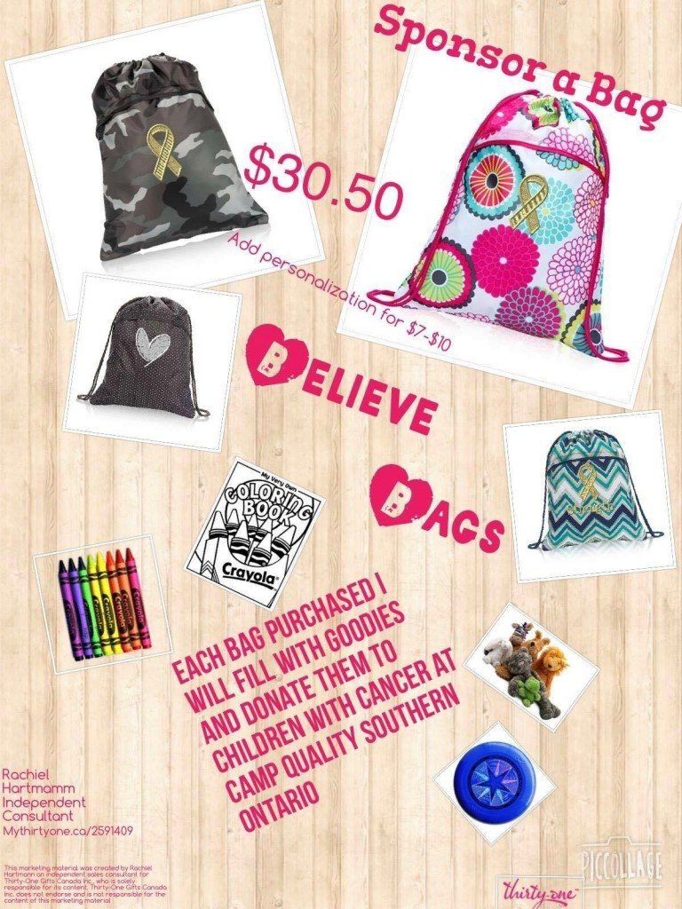 thirty-one believe bags