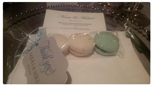 macaron wedding favour