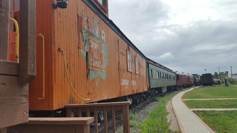 northern ontario railroad museum yard