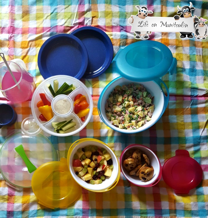 summer entertaining snapware picnic