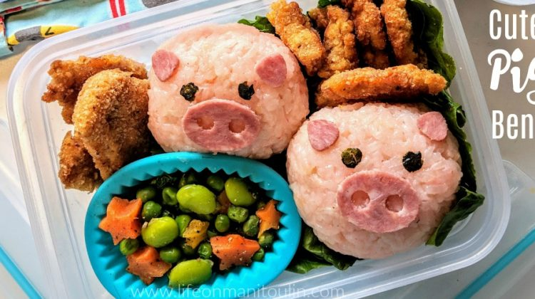 Cute Pig Bento Lunch for Kids