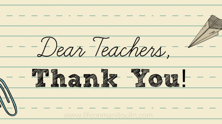 Dear Teachers, Thank You For Everything You Do