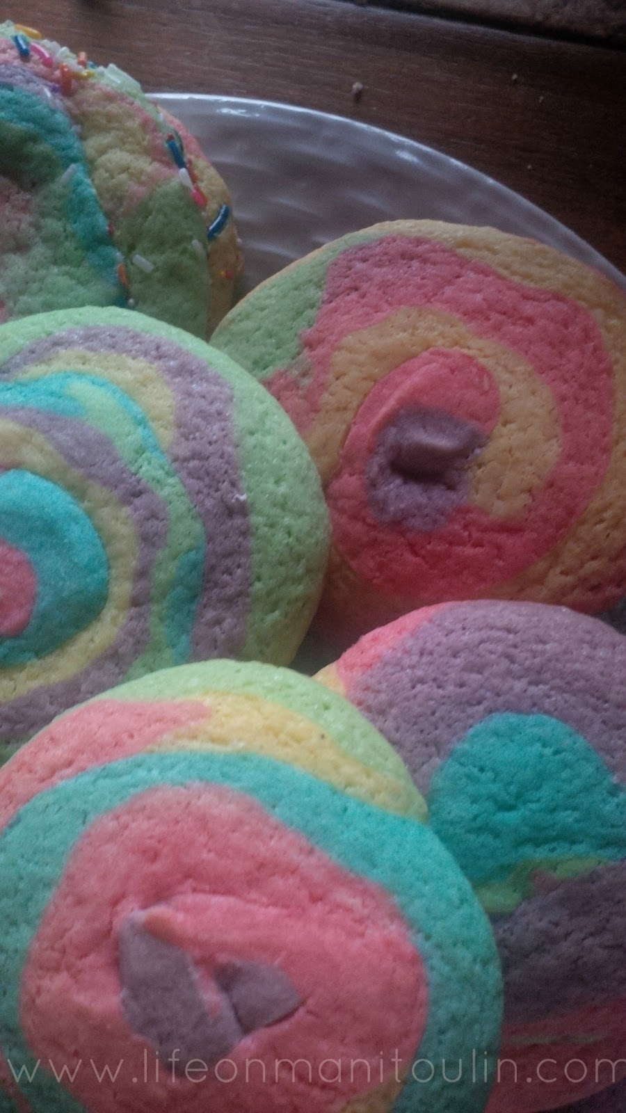 Rainbow Pinwheel Cookies - Life on Manitoulin